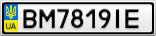 Номерной знак - BM7819IE
