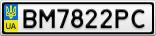 Номерной знак - BM7822PC