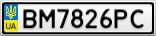 Номерной знак - BM7826PC
