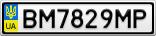 Номерной знак - BM7829MP