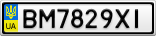 Номерной знак - BM7829XI