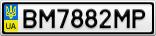 Номерной знак - BM7882MP