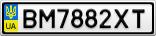 Номерной знак - BM7882XT