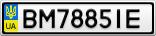 Номерной знак - BM7885IE