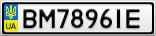 Номерной знак - BM7896IE