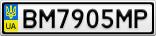 Номерной знак - BM7905MP