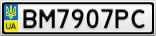 Номерной знак - BM7907PC