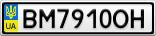 Номерной знак - BM7910OH