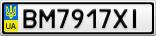 Номерной знак - BM7917XI