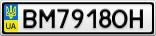 Номерной знак - BM7918OH