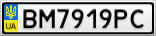 Номерной знак - BM7919PC