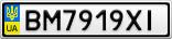 Номерной знак - BM7919XI