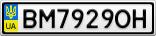 Номерной знак - BM7929OH