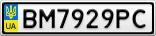 Номерной знак - BM7929PC