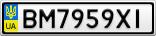 Номерной знак - BM7959XI