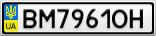 Номерной знак - BM7961OH