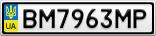 Номерной знак - BM7963MP