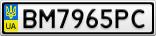 Номерной знак - BM7965PC
