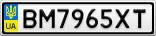 Номерной знак - BM7965XT
