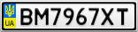 Номерной знак - BM7967XT