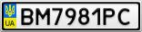 Номерной знак - BM7981PC