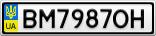 Номерной знак - BM7987OH