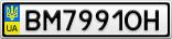 Номерной знак - BM7991OH