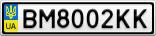 Номерной знак - BM8002KK