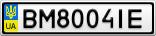 Номерной знак - BM8004IE
