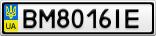Номерной знак - BM8016IE