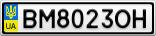 Номерной знак - BM8023OH