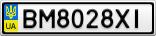 Номерной знак - BM8028XI