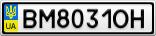 Номерной знак - BM8031OH