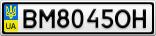 Номерной знак - BM8045OH