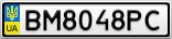 Номерной знак - BM8048PC