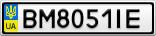 Номерной знак - BM8051IE