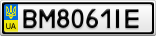 Номерной знак - BM8061IE