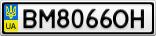 Номерной знак - BM8066OH