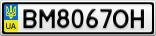 Номерной знак - BM8067OH