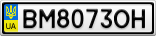 Номерной знак - BM8073OH