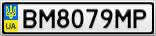 Номерной знак - BM8079MP