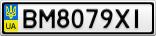 Номерной знак - BM8079XI