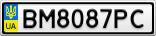 Номерной знак - BM8087PC