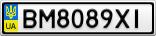 Номерной знак - BM8089XI