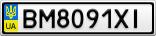 Номерной знак - BM8091XI