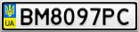 Номерной знак - BM8097PC