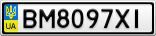Номерной знак - BM8097XI