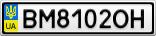 Номерной знак - BM8102OH