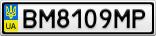 Номерной знак - BM8109MP