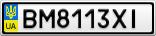 Номерной знак - BM8113XI